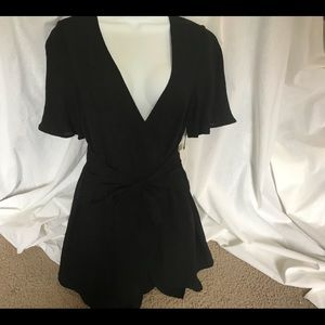 NWT Cotton Candy black romper by Bare Anthology. S